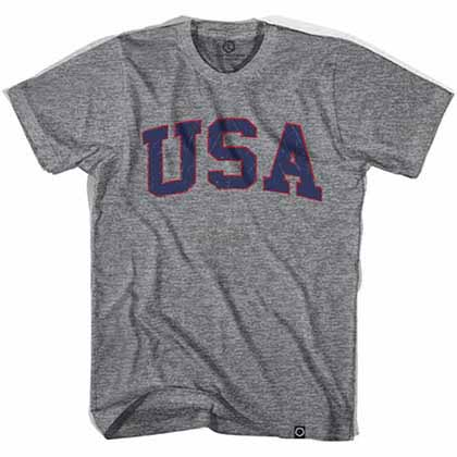 USA Vintage Soccer Gray T-Shirt