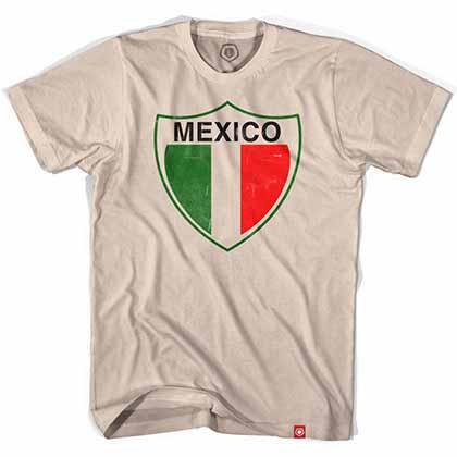 Mexico Vintage Crest Soccer Beige T-Shirt
