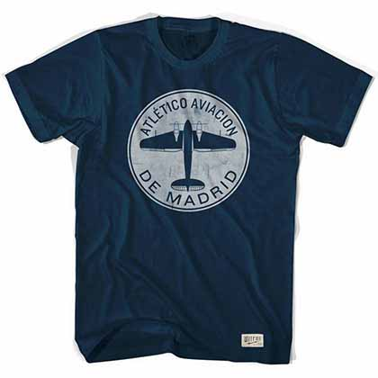 Atletico Madrid Plane Soccer Blue T-Shirt