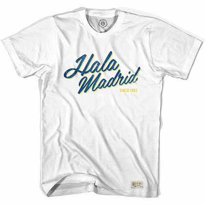 Real Madrid Hala Madrid Soccer White T-Shirt