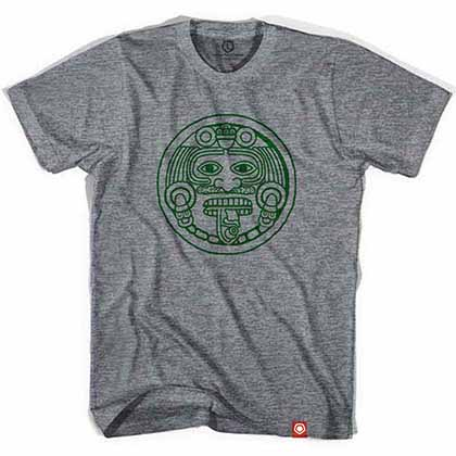 Mexico Mayan 1998 Soccer Gray T-Shirt