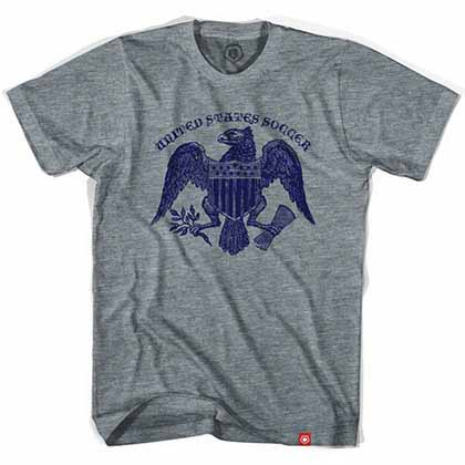 United States Soccer Eagle Gray T-Shirt