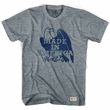 Made In America Eagle Soccer Gray T-Shirt