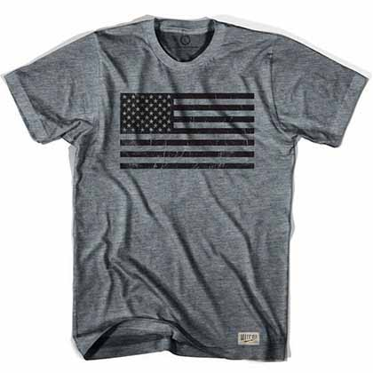 American Black Flag Soccer Gray T-Shirt