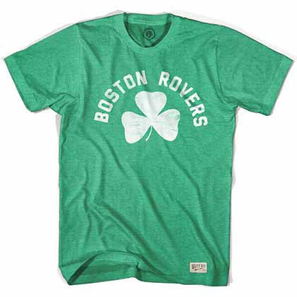 Boston Rovers White Clover Green T-Shirt