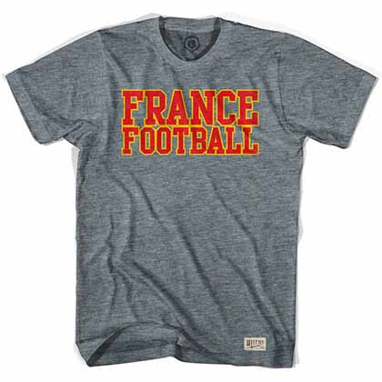 France Football Nation Soccer Gray T-Shirt