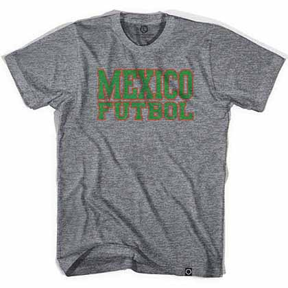 Mexico Futbol Nation Soccer Gray T-Shirt