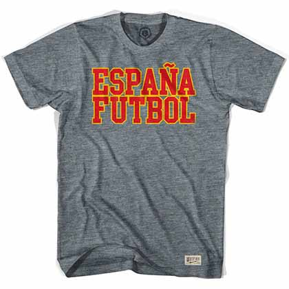 Spain Espana Futbol Nation Soccer Gray T-Shirt