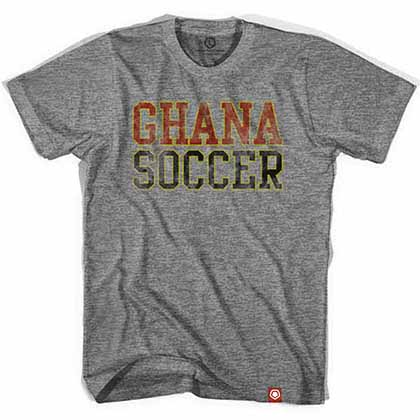 Ghana Soccer Nation Gray T-Shirt