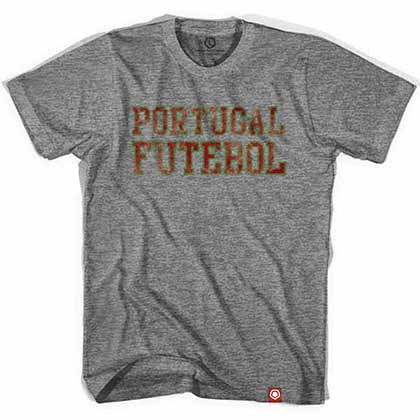 Portugal Futebol Nation Soccer Gray T-Shirt