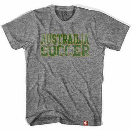 Australia Football Nation Soccer Gray T-Shirt