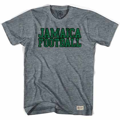 Jamaica Football Nation Soccer Gray T-Shirt