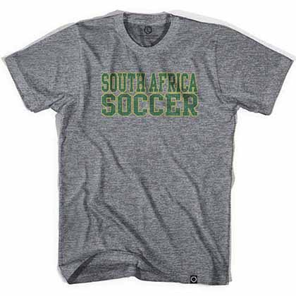 South Africa Football Nations Soccer Gray T-Shirt