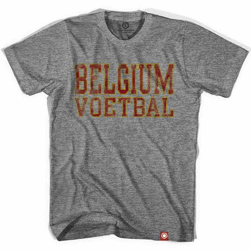 Belgium Voetbal Nation Soccer Gray T-Shirt