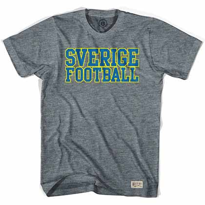 Sweden Sverige Football Nation Gray T-Shirt
