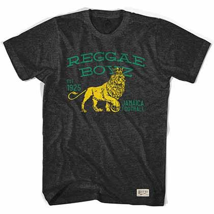 Jamaica Reggae Boyz Soccer Black T-Shirt
