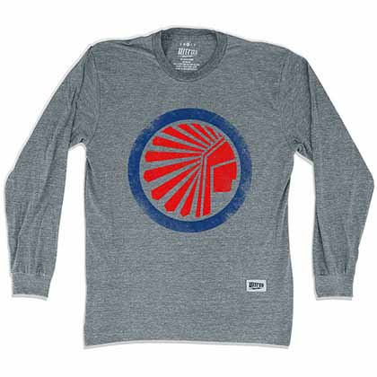 Atlanta Chiefs Soccer Long Sleeve Gray T-Shirt