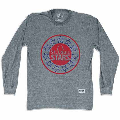 St. Louis Stars Soccer Long Sleeve Gray T-Shirt