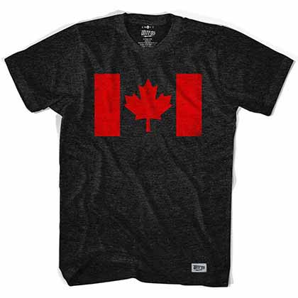 Canada Flag Vintage Black T-Shirt
