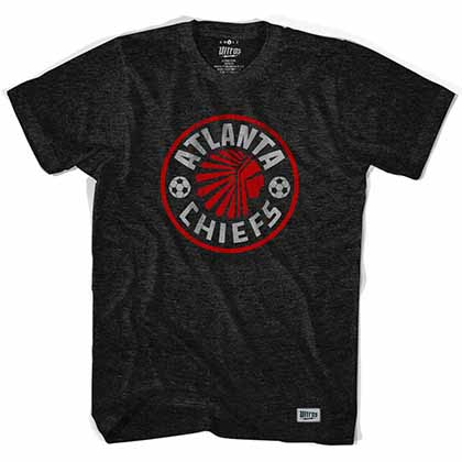 Atlanta Chiefs Vintage Black T-Shirt