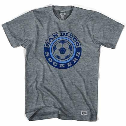 San Diego Sockers Soccer Gray T-Shirt