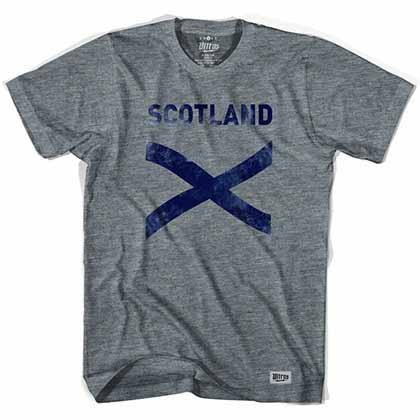 Scotland Cross Vintage Gray T-Shirt