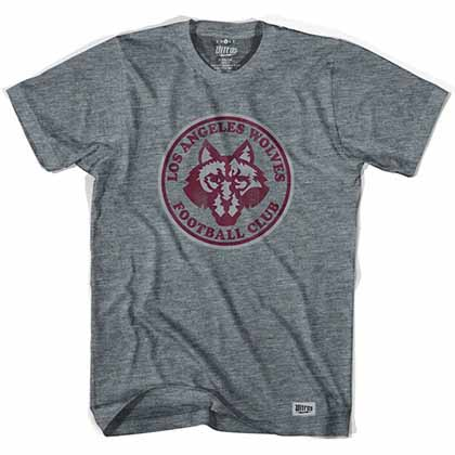 Los Angeles Wolves Vintage Soccer Gray T-Shirt