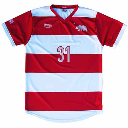 California State Cup Home Soccer Red Jersey