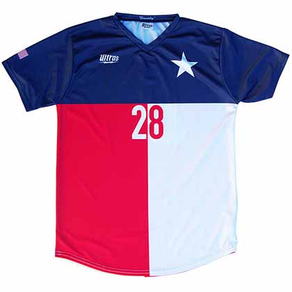 Texas State Cup Soccer Blue Jersey
