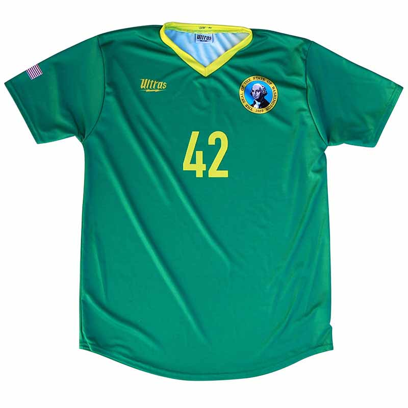 Washington State Cup Soccer Green Jersey