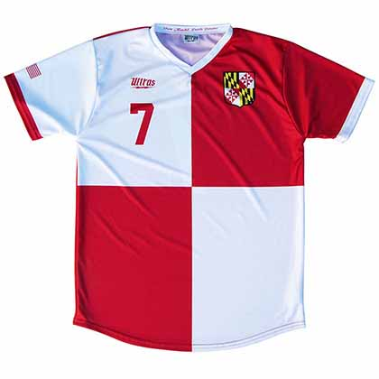 Maryland State Cup Soccer Home Red Jersey