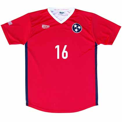 Tennessee State Cup Soccer Red Jersey