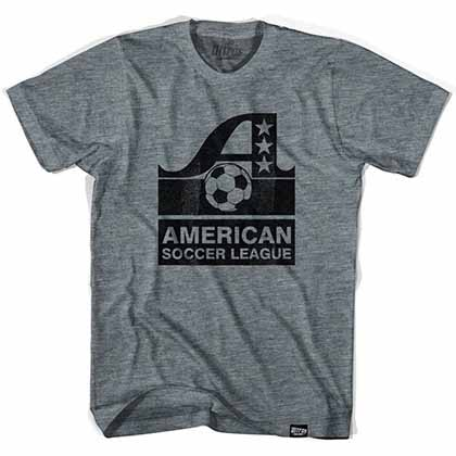 ASL American Soccer League Vintage Gray T-Shirt