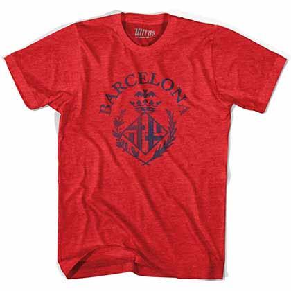 Barcelona Vintage Crest Soccer Red T-shirt