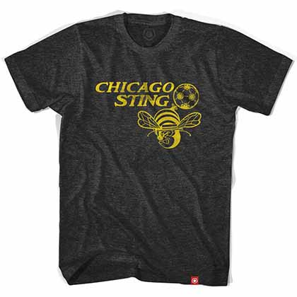 Chicago Sting Soccer Black T-Shirt