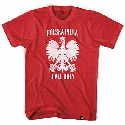 Poland Polska Pilka Soccer Red T-Shirt