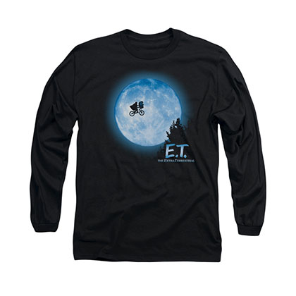 E.T. The Extra Terrestrial Moon Black Long Sleeve T-Shirt