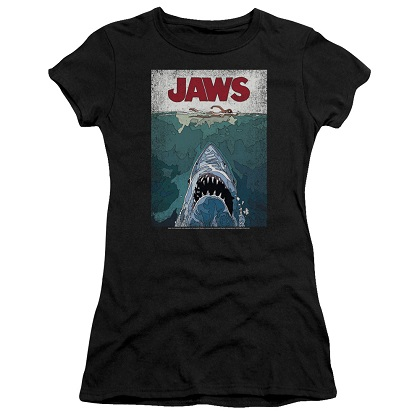 Jaws Lined Posted Women's Tshirt