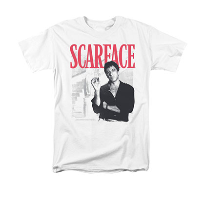 Scarface Men's White Stairway Tee Shirt