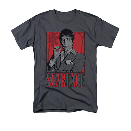 Scarface Men's Gray Tony Montana Tee Shirt