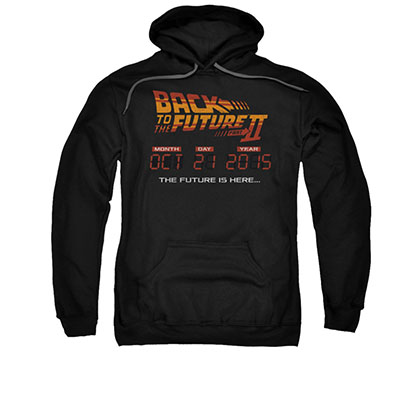 Back To The Future II Is Here Black Pullover Hoodie