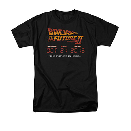Back To The Future II Is Here Black T-Shirt