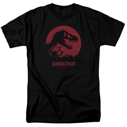 Jurassic Park Red Sun Logo Tshirt