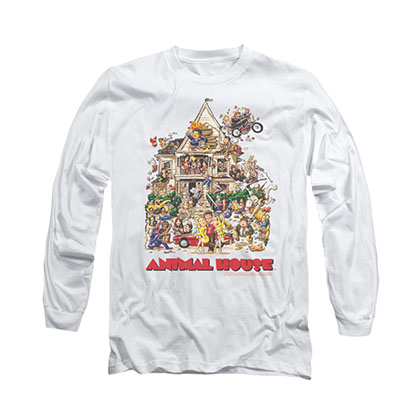 Animal House Poster Art White Long Sleeve T-Shirt