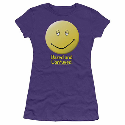 Dazed And Confused Dazed Smile Purple Juniors T-Shirt