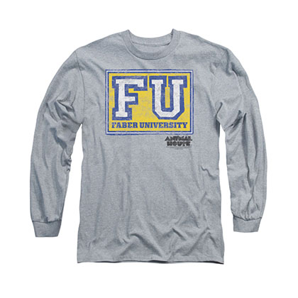 Animal House Faber University Gray Long Sleeve T-Shirt