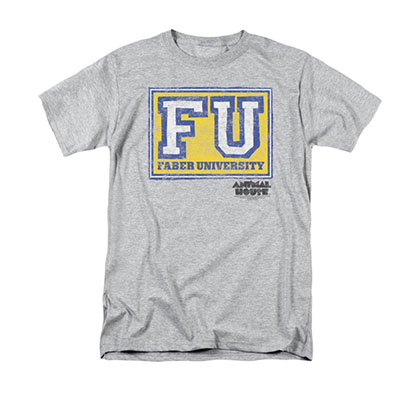 Animal House Men's Gray Faber University T-Shirt