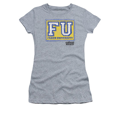 Animal House Juniors Gray Faber University T-Shirt