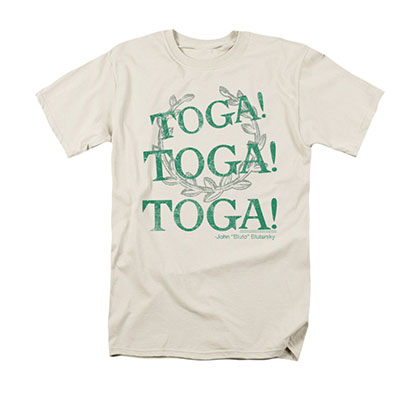 Animal House Men's Cream Toga! Toga! Toga! T-Shirt