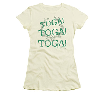 Animal House Toga Time Cream Juniors T-Shirt